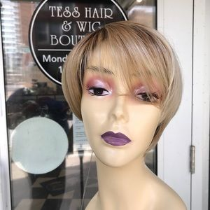 Wig blonde ombré hairuwear Pixie short summer cut
